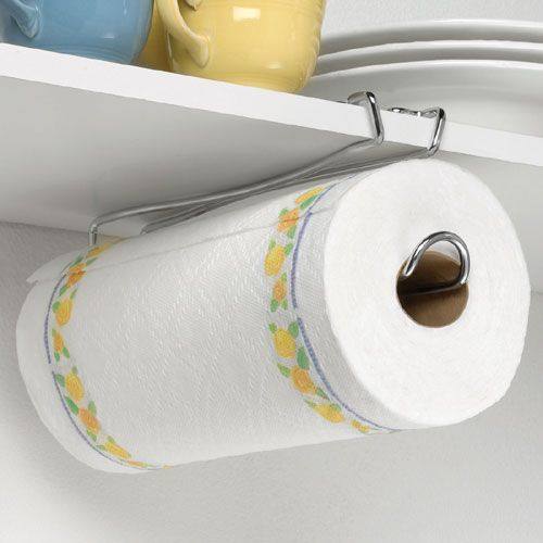 This site has cool stuff. for ex. : Under the Shelf Paper Towel Holder: $7 (yes, even the underside of the medicine cabinet by the sink will be fully utilized)