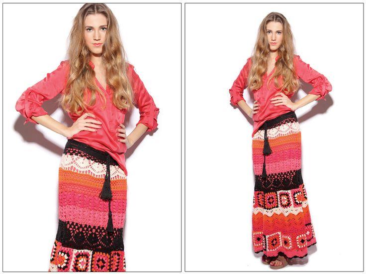 Юбка крючком . Агостина Бьянчи. #Agostina_Bianchi    #crochet_skirt Collection Spring-Summer 2013