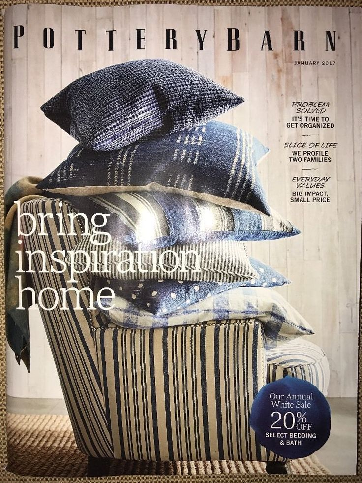 Pottery Barn January 2017 BRING INSPIRATION HOME Catalog Source Book Inspiration  | eBay