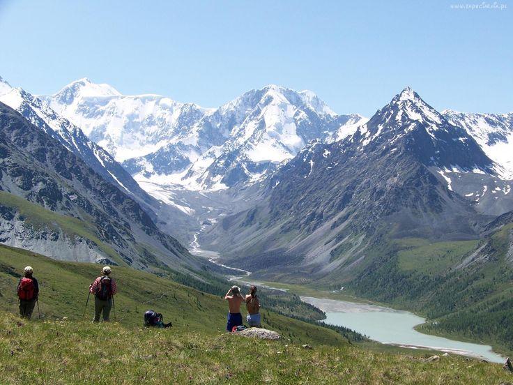 Krajobraz, Góry, Ludzie