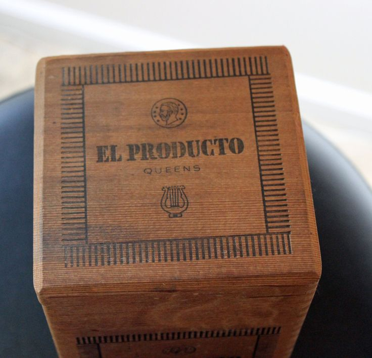 Wood Cigar Box El Producto Circa 1950s Dovetail Joints Original Inside Lid Label Wooden Cigar Box Excellent Vintage Condition by PastThatLasts on Etsy