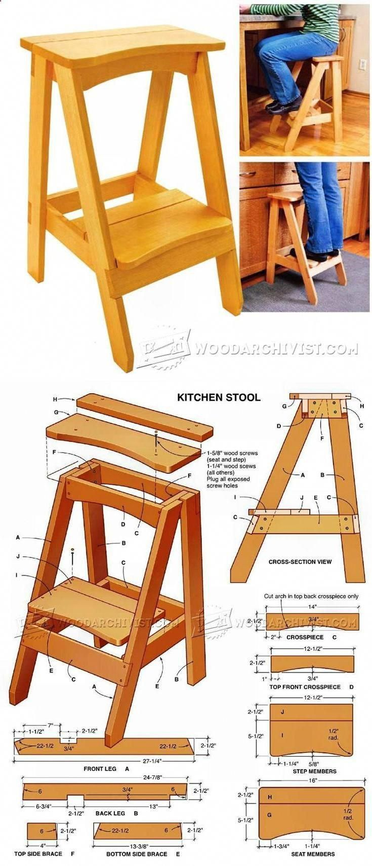 kitchen step stool plans furniture plans and projects rh pinterest ca