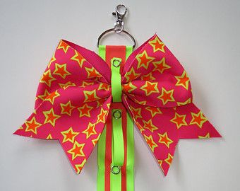Cheer bow holder hair bow hanger hair bow by CheerStarAustralia                                                                                                                                                                                 More