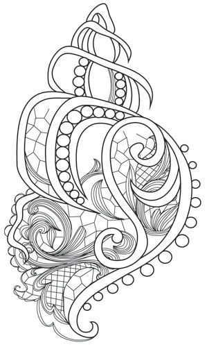 Aquarius - Seashell | Urban Threads: Unique and Awesome Embroidery Designs
