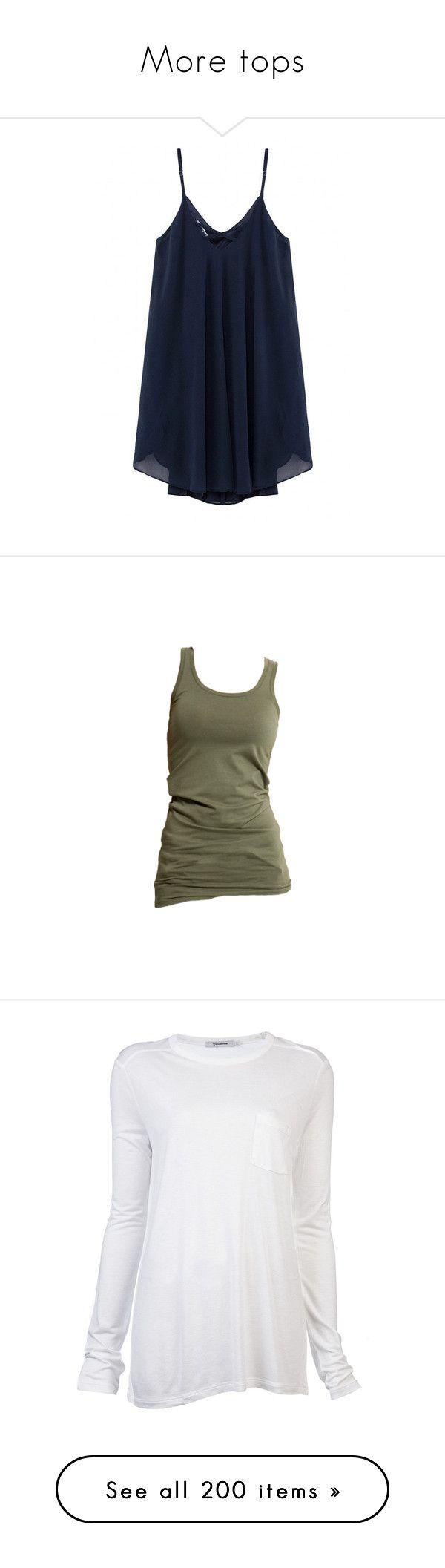 """More tops"" by purpledaisy47 ❤ liked on Polyvore featuring dresses, tops, yoins, shirts, navy, chiffon cami, navy blue cami, navy camisole, blue cami and blue chiffon dress"