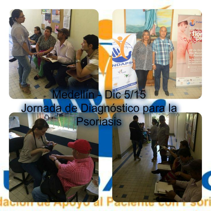 Con total éxito se llevó a cabo en  Medellín -Dic 5/15- la jornada de diagnóstico de la psoriasis donde se brindó amplia cobertura en atención, revisión, diagnóstico e inicio de tratamiento a personas con síntomas de psoriasis.