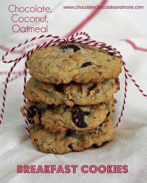 Chocolate Coconut Oatmeal Breakfast Cookies | Recipe | Chocolate chips ...