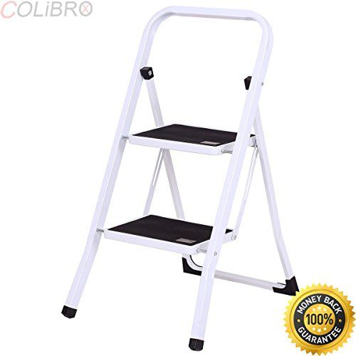 Excellent Colibrox 2 Step Ladder Folding Steel Step Stool Anti Slip Caraccident5 Cool Chair Designs And Ideas Caraccident5Info