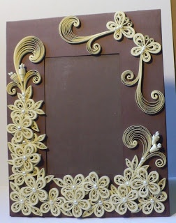 Lets create: Decorated Foam Board Quilling Wedding Photo Frame