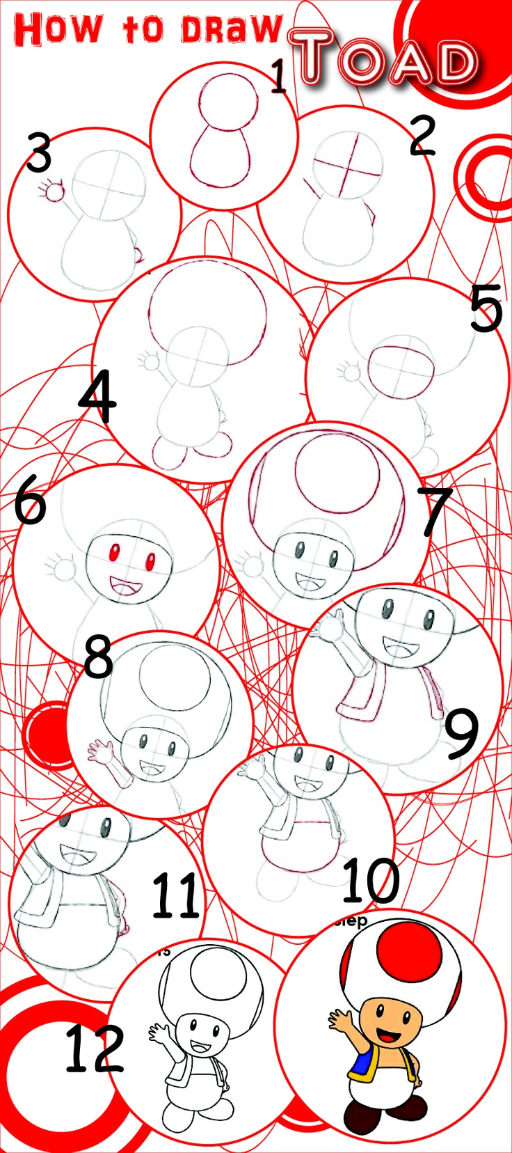how to draw toad | Drawing | Pinterest