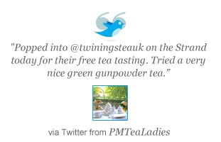 Customer tweet about Twinings Shop and Museum in London
