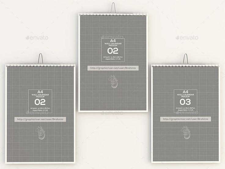 30 Calendar Mockup Psd Design Templates For Designers Graphic Cloud Wall Calendar Psd Designs Template Design