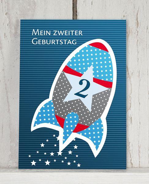 Einladung 2. GEBURTSTAG von KLEINE KERLE auf DaWanda.com
