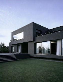 black facade home