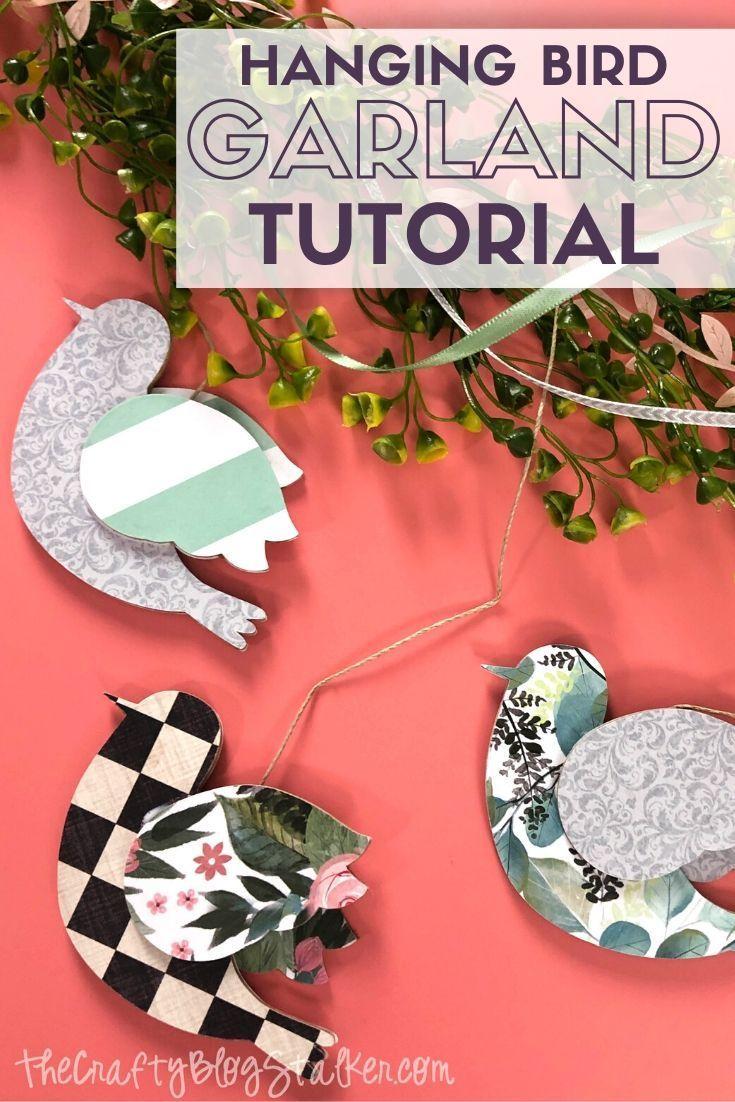 How to Make a DIY Bird Garland in 2020 Bird crafts, Diy