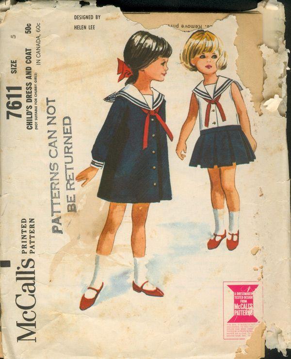 M 7611 ~ vintage 1964 Sailor dresses by Helen Lee
