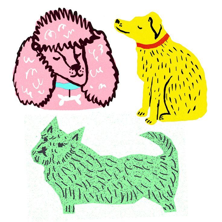 dog, dogs, vinyl, sticker, stickers, stationery, the printed peanut, louise lockhart