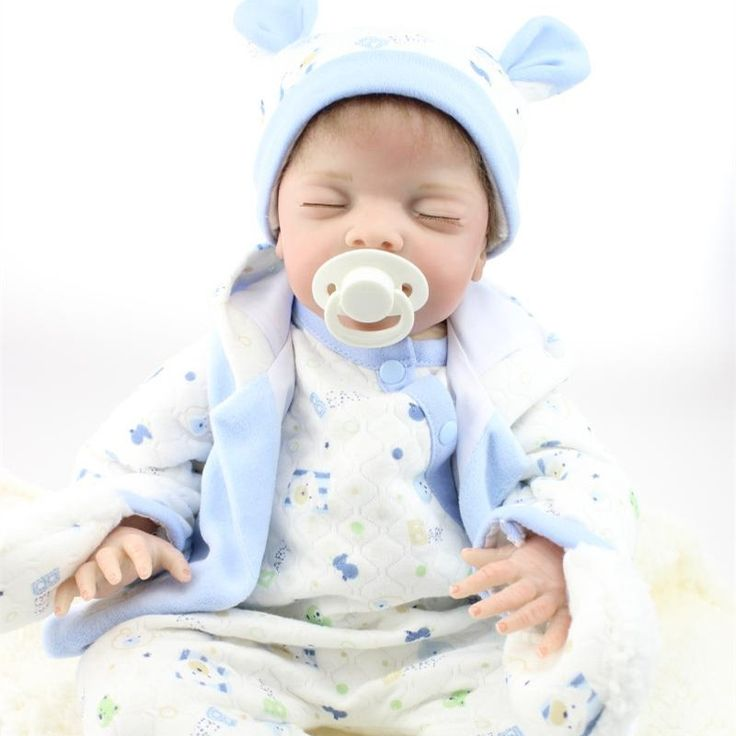 121.00$  Watch now - http://ali1c1.worldwells.pw/go.php?t=32723562674 - 22 Inch Alive Boy Baby Dolls Lifelike Silicone Reborn Baby Doll With Close Eyes Realistic Newborn Babies Toys For Kids Playmate 121.00$