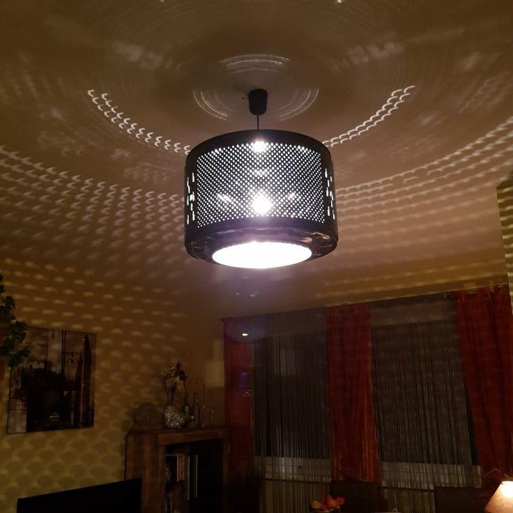 DIY Lampe aus einer alten Waschtrommel .....love it 😍