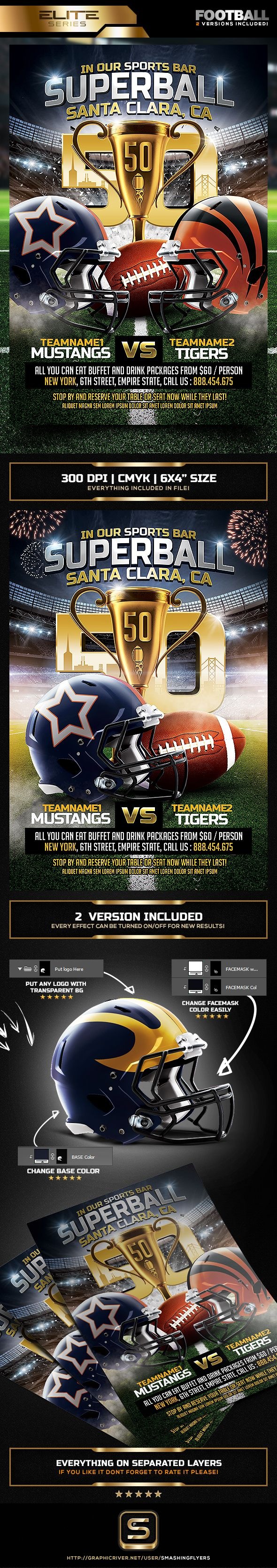American Football flyer #American #Football Game #Flyer #American Football flyer - Sports Flyers Download