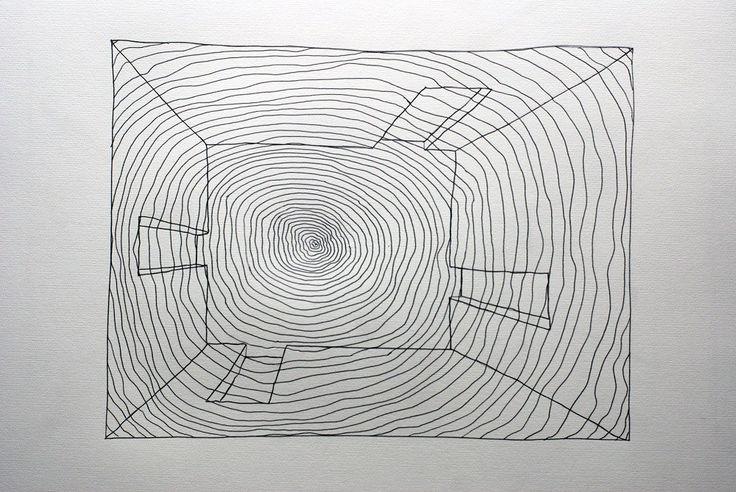 Untitled 008 by Zbigniew Taszycki, drawing – graphite, scalpel, photo: promo materials