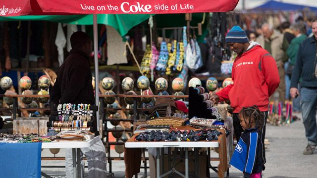 Local markets in Hout Bay, south of Cape Town.