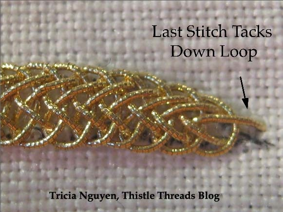 The Thistle Thread final stitch.