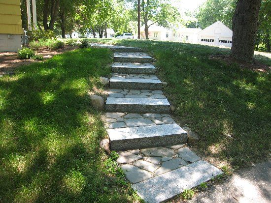 17 best images about sidewalks on pinterest concrete for Landscaping rocks on a hill