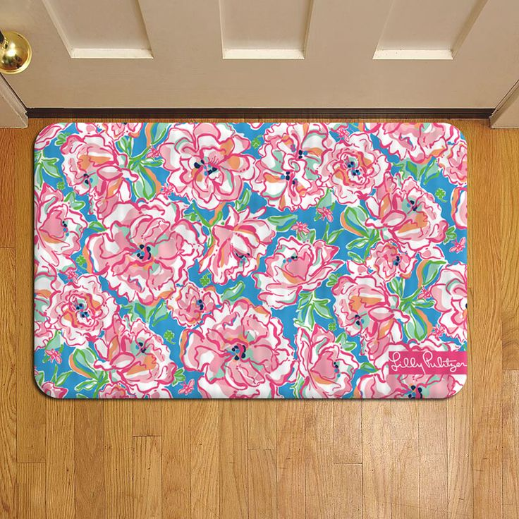 Floral Tropical Pattern Lilly Pulitzer #911 Door Mat Rug Carpet Doormat Doorsteps Foot Pads