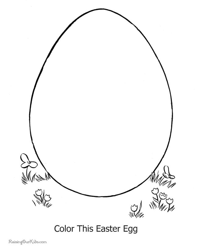 Easter egg coloring page.  I think this would go great for the construction paper egg in rainbows.