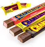 A box of 24 bars of Charleston Chews Chocolate.  Named after the Charleston, which was a popular dance at the time of its launch in 1922, the iconic American chewy chocolate flavoured nougat bar is covered in smooth milk chocolate.  Each bar of Charleston Chews Chocolate weighs approximately 55 grams per bar.