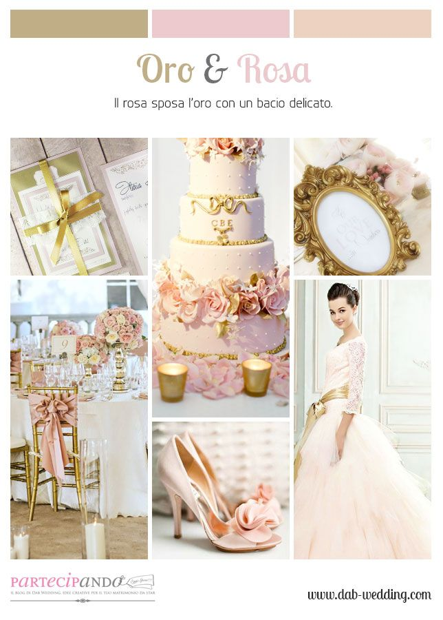 Inspiration moodboard wedding rosa e oro rose and gold