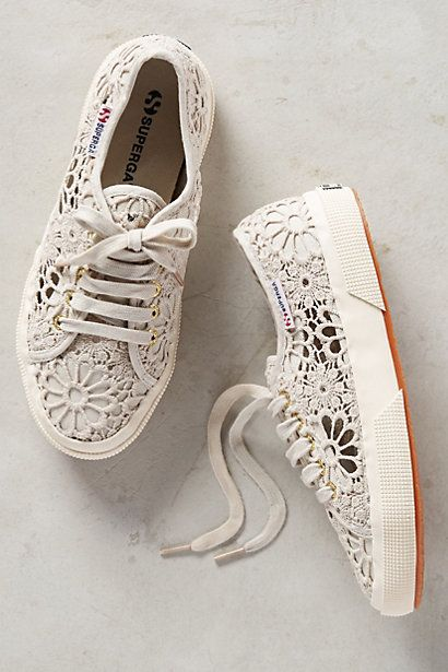 Superga Lace Sneakers #anthropologie