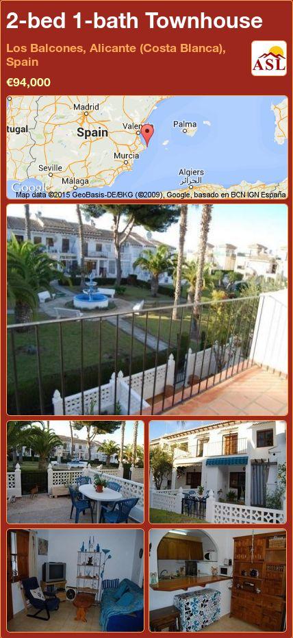 2-bed 1-bath Townhouse in Los Balcones, Alicante (Costa Blanca), Spain ►€94,000 #PropertyForSaleInSpain