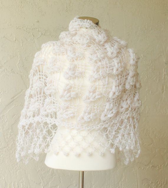 Bridal Bolero and ShrugCrochet Shawl Ivory Shawl by MODAcrochet