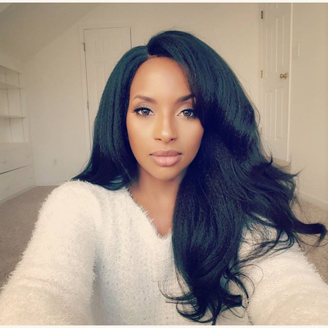 Natural Color Italian Yaki Brazilian Virgin Hair Glueless Full Lace Wigs[GFL19]-WOWAfrican.com