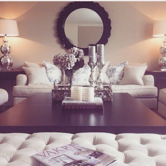 adorable mirrored living room furniture. Accents of silver and black with nude furniture 650 best Living Room images on Pinterest  Apartments Future