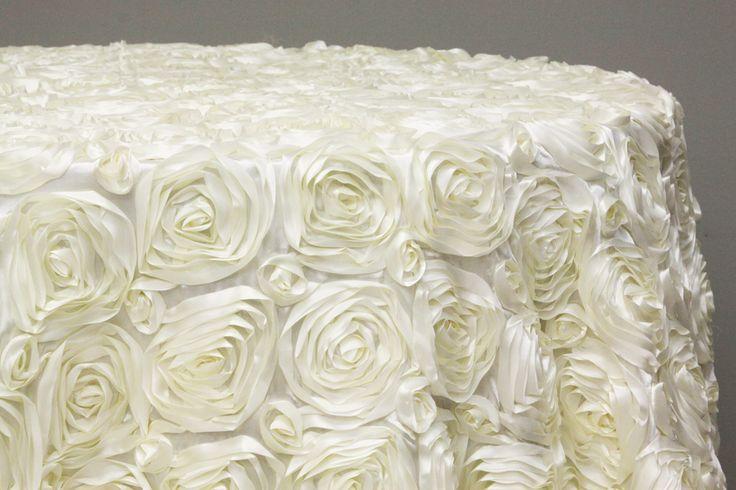 Wedding Rosette Satin 120 Quot Round Tablecloth Ivory Cake Table Wedding Ideas Secret