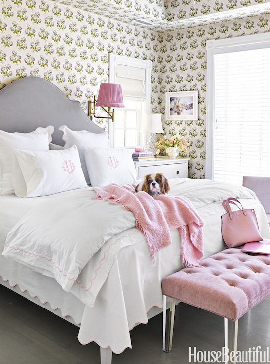 The Glam Pad: Suellen Gregory Designs A Pretty In Pink Virginia Townhouse