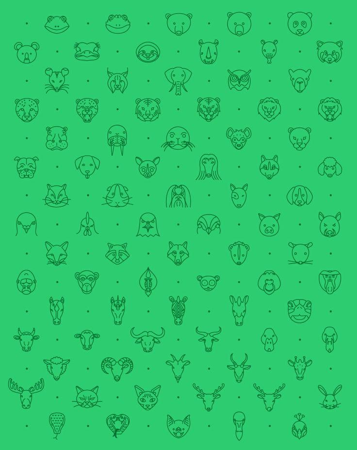 79 Animal Line Icon Set by Michael Reimer (via Creattica)