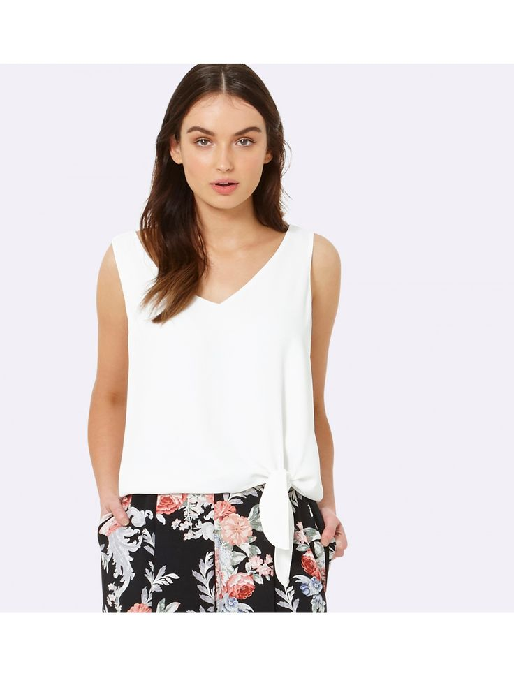 Discover a new wardrobe favourite and channel chic sophistication with our Milly Side Tie Tank, sure to see you transition effortlessly from day to night.