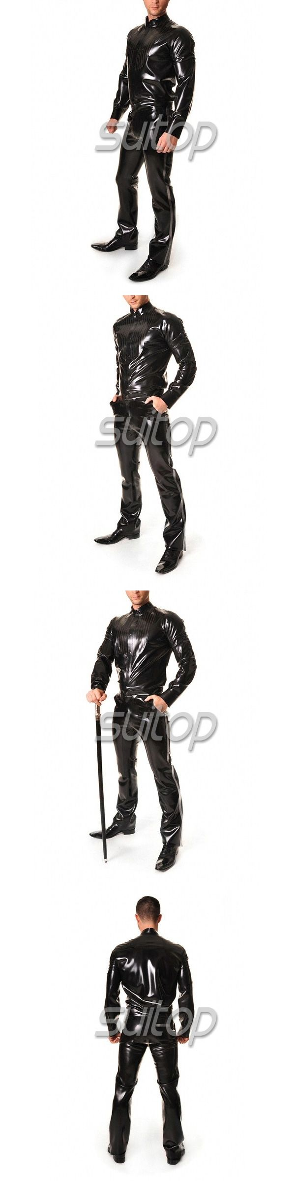 RUBBER UNIFORMS latex jeans for man