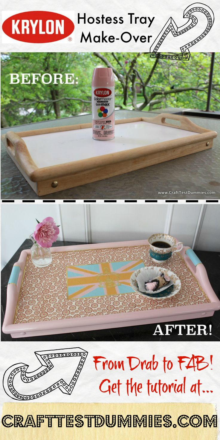 Hostess Tray Fit for a Queen (Or a Princess Charlotte!) | Craft Test Dummies