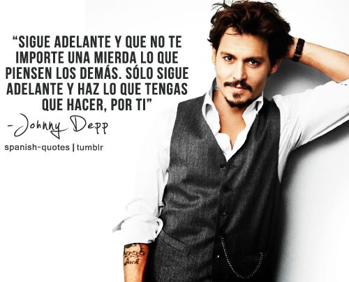 johnny depp frases en español - Google Search