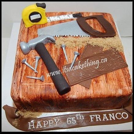 Tools of the Trade Retirement Cake - by itsacakething @ CakesDecor.com - cake decorating website