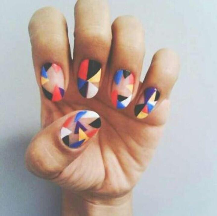 Retro Nail ArtNails Art, Awesome Nails, Nailart Mondrian, Nailart Nailpolish, Pretty Nails, Mondrian Nails, Nails Ideas, Retro Nails, Colors Nailart