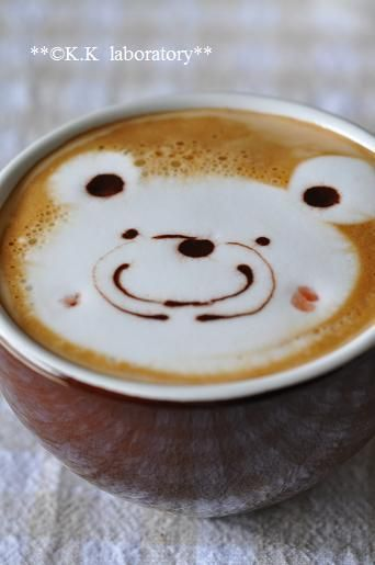 polar bear coffee latte... I think that every latte should be served like this, it'd make every morning a million times better!
