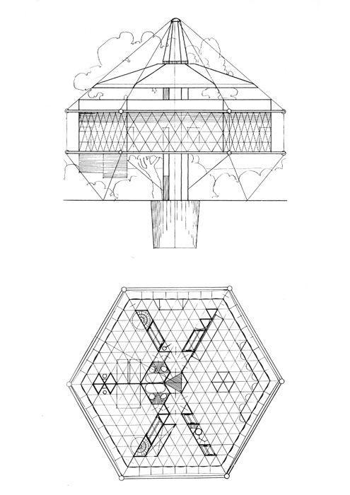 Buckminster fuller house google search housing studio for Dymaxion house plans