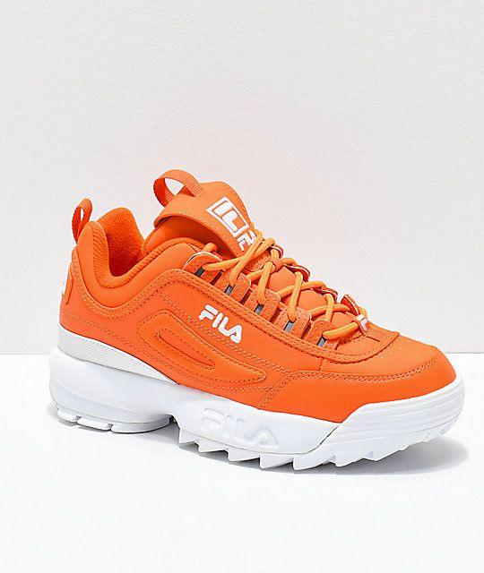 FILA Disruptor II Orange Shoes in 2019  44d1f65a03f35