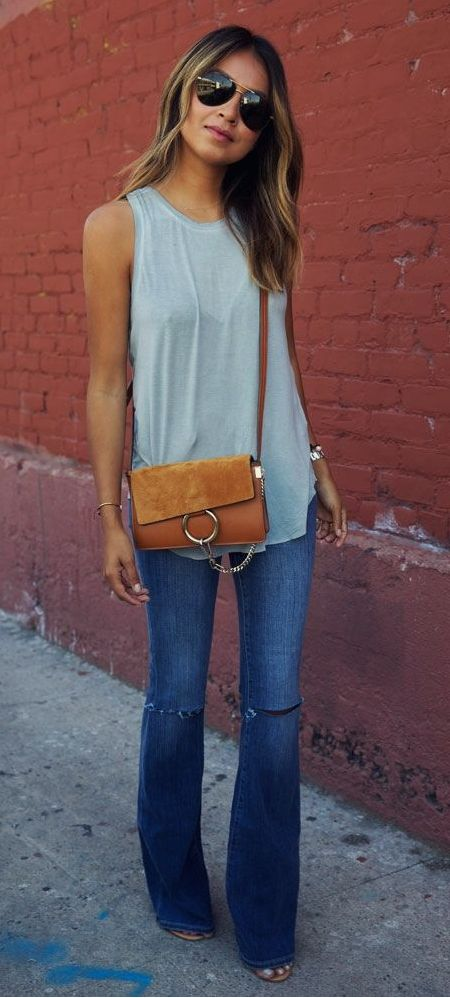 25  best ideas about Cut jeans on Pinterest | Flare jeans, Wide ...